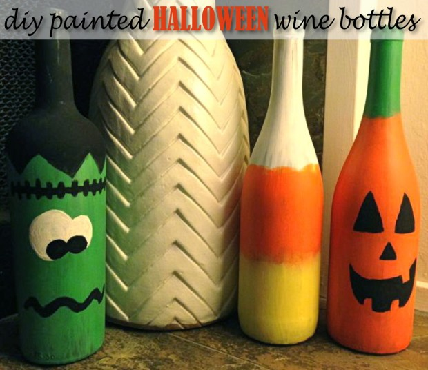 Boo! DIY Repurposed Wine Bottle Halloween Decor
