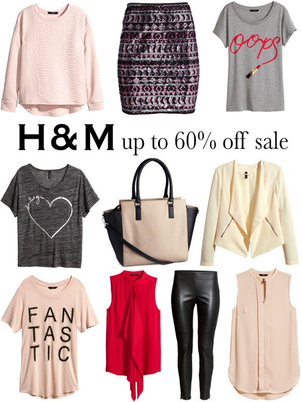 H&M up to 60% off Sale