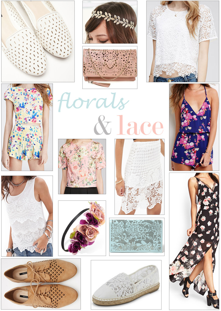 Channel the Romance- floral lace trend