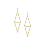 Rocksbox Review- Gorjana Mika Cutout Drop Earrings