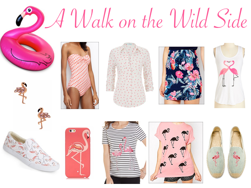 A Walk on the Wild Side- flamingo trend