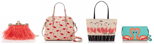 kate spade flamingo trend handbags
