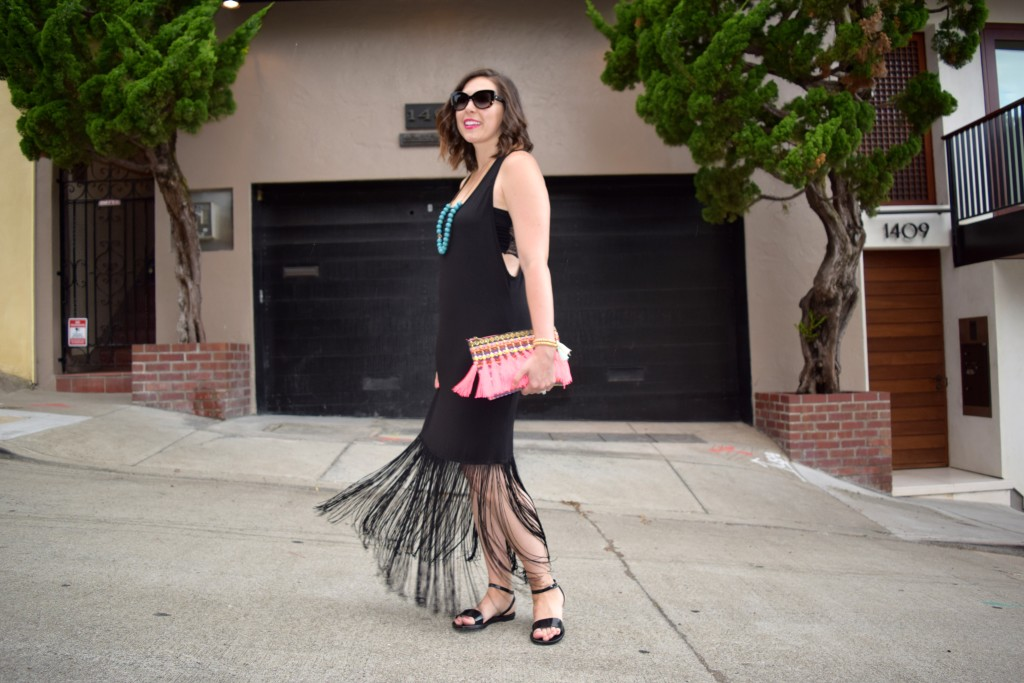 Black Fringe and Bright Tassels