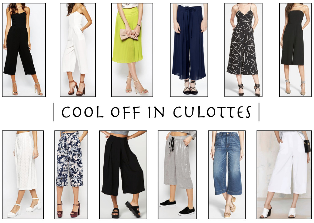 cool off in the culotte trend