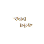 Melinda Maria Cece Triange Stud Earrings